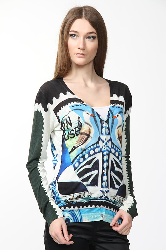 Кардиган Mary Katrantzou Кардиганы с рукавами coat trussardi collection пальто с воротником