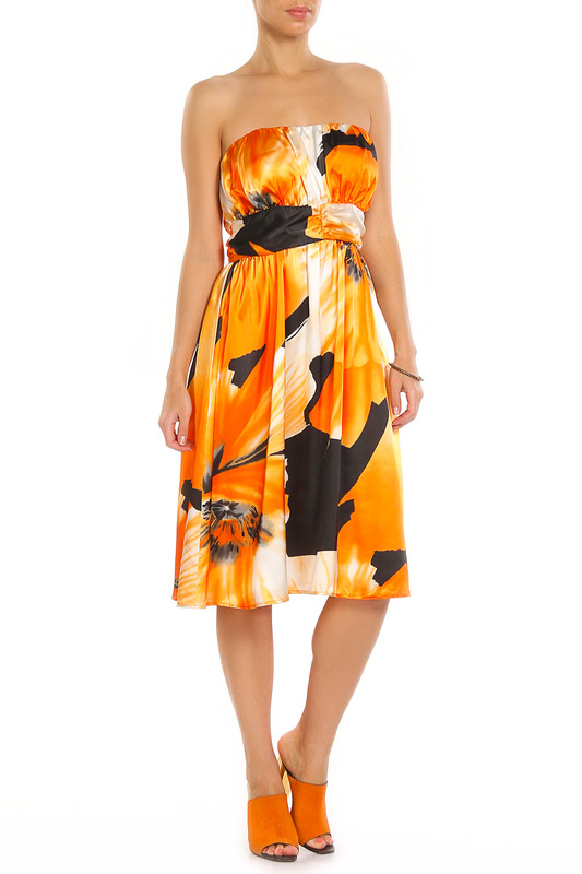 Женские сарафаны Aftershock OSCAR PRINT1 ORANGE BLACK