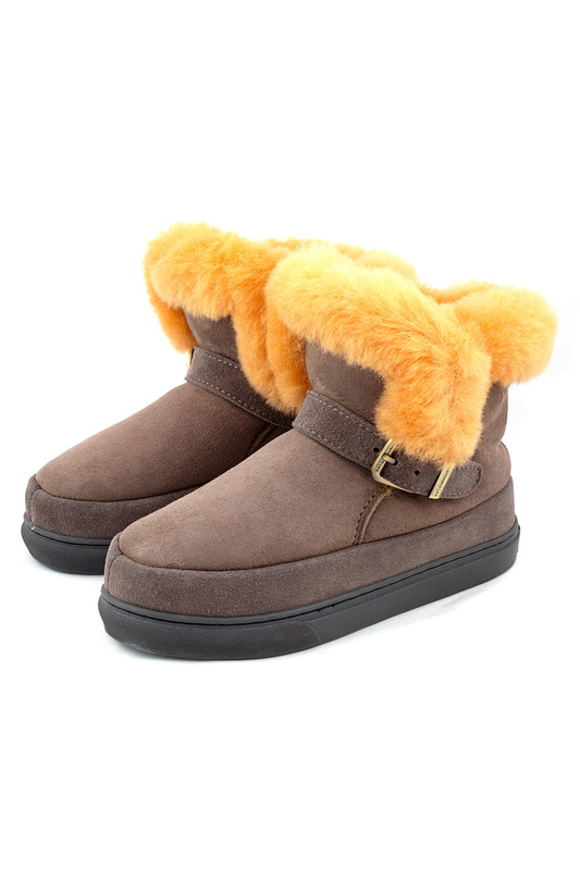 Женские угги Shepherd's Life SLW-MAS20_DARK_GRAY_ORANGE_BOOTS