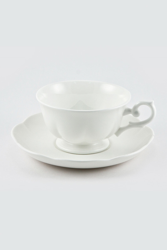 Чайная пара 180 мл White Royal Bone China