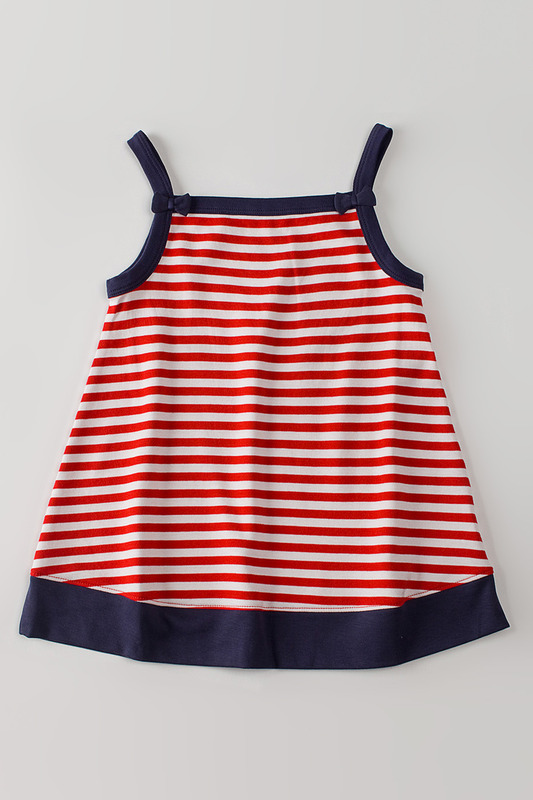 ������ KLEVER KIDS CRIMSON & BLUE STRIPE TUNIC