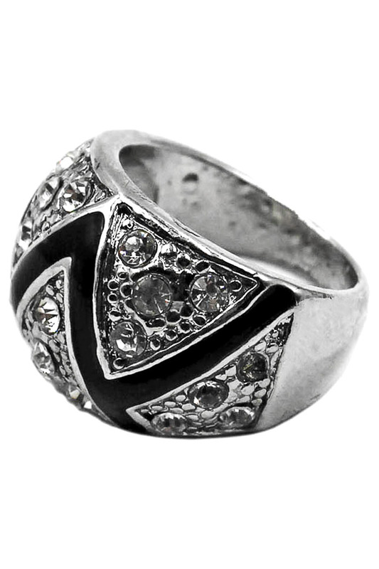Taya Кольцо T-B-6836-RING-SL.BLACK