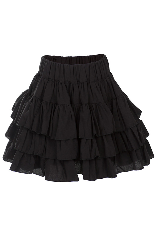 Юбка HOW TO KISS A FROG ZILA SKIRT SOLID BLK VISCOSE