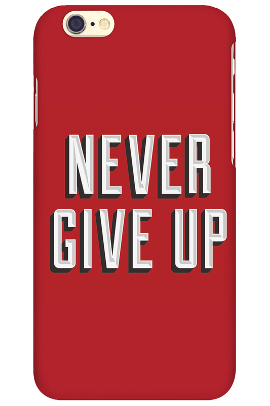 Чехол для Iphone MITYA VESELKOVДля Iphone 6 Never give up на красном.