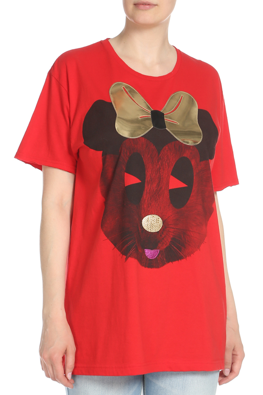 Футболка Nil and Mon T-SHIRT MOONY RED/GOLD