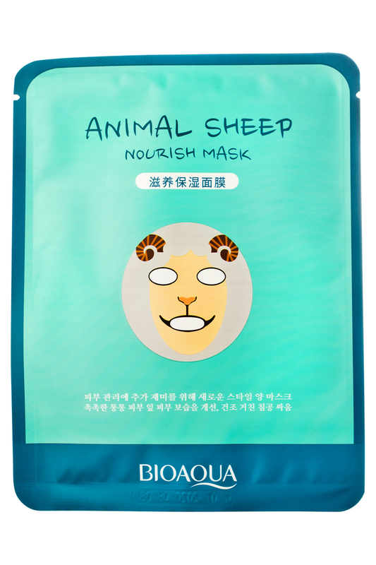 Осветляющая маска Face Sheep BIOAQUA Осветляющая маска Face Sheep hadabisei маска kracie hadabisei маска