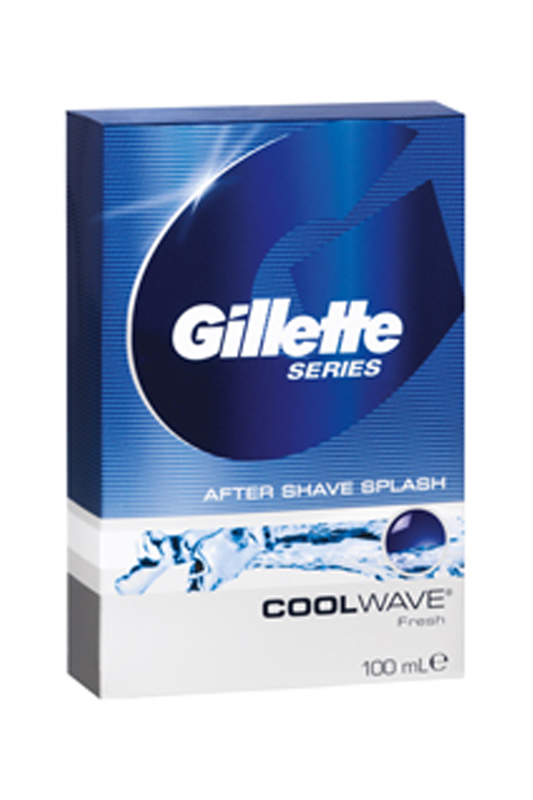 Лосьон после бритья Cool Wave, GILLETTE Лосьон после бритья Cool Wave, creative wave style pp lid rack mount holder green