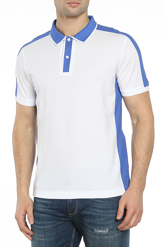 Рубашка Поло Tommy Hilfiger Рубашка Поло рубашка tommy hilfiger mw0mw03105 902 bright white royal blue