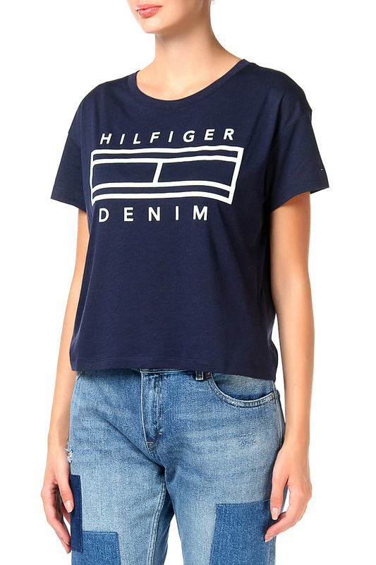 Футболка Tommy Hilfiger Denim Футболка футболка tommy hilfiger denim футболка