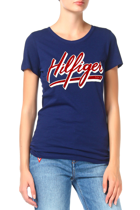 Футболка Tommy Hilfiger Denim Футболка платье tommy hilfiger denim tommy hilfiger denim to013ewtpb93
