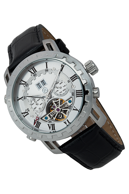 automatic watch Reichenbachautomatic watch<br><br>Возраст: Взрослый<br>Пол: Мужской<br>Цвет: Silver and black