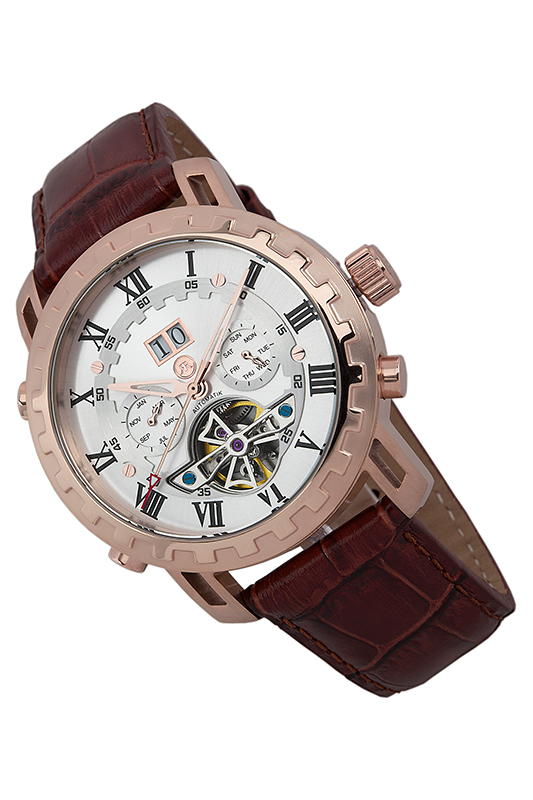 AUTOMATIC WATCH Reichenbach AUTOMATIC WATCH 40mm corgeut white sterile dial rose gold case miyota automatic mens watch
