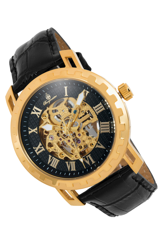 automatic watch Burgmeister Часы механические binger full steel watch mechanical hollow transparent skeleton automatic self wind man reloj relogio wristwatch with rose gold