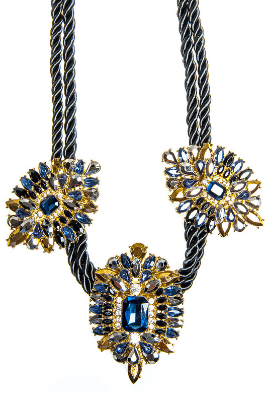 Купить Necklace Luisa Vannini Jewelry, Blue and gold