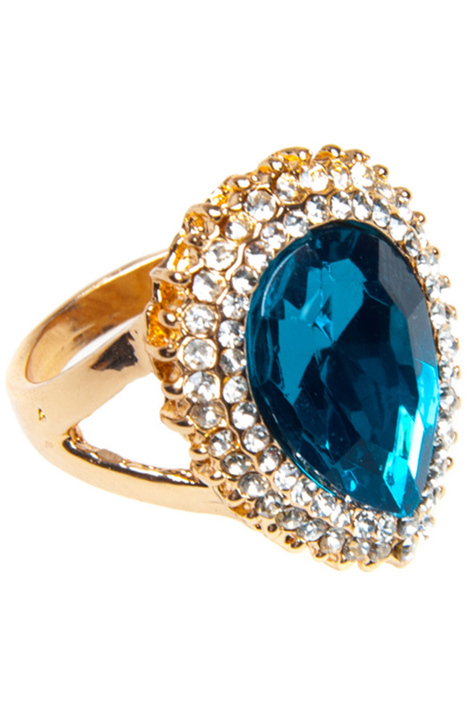 Купить Ring Luisa Vannini Jewelry, Gold, silver and blue