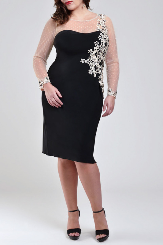 dress VIVIANA VIVIANA 31072506_BLACK_OYSTER
