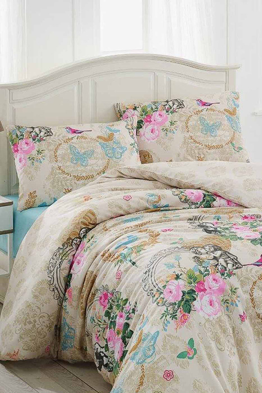 double bed linen Eponj home double bed linen flamingo linen placement