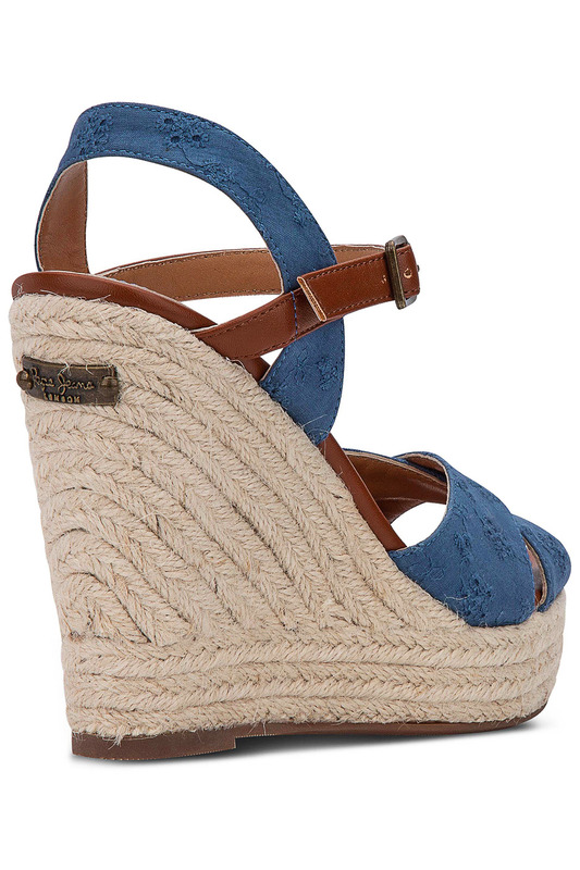 Фото 5 - wedge sandals Pepe Jeans синего цвета