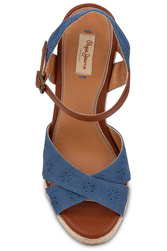 Фото 6 - wedge sandals Pepe Jeans синего цвета