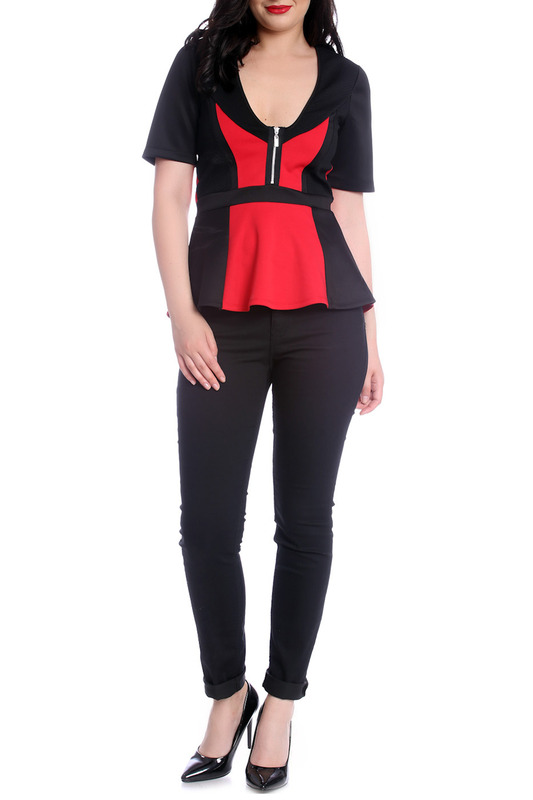 Фото - BLOUSE Emma Monti цвет black and red