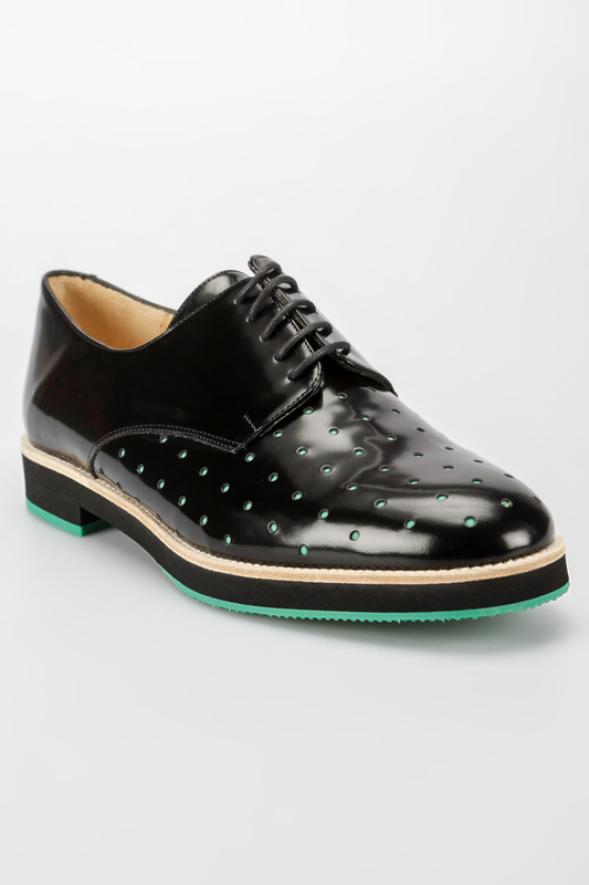 Женские туфли TF SLACK LONDON 17605_NEGRO_VERDE