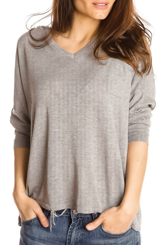 jumper GAZOIL jumper plus grommet crisscross plunging neck jumper