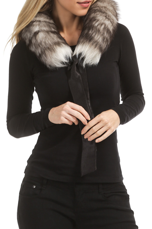 fur collar Rolf Schulte fur collar plus collar knot blouses
