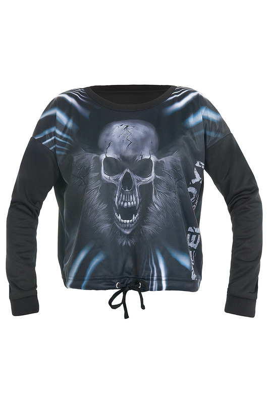 Толстовка FEELJ! SWEATSHIRT_SKULL_BLACK