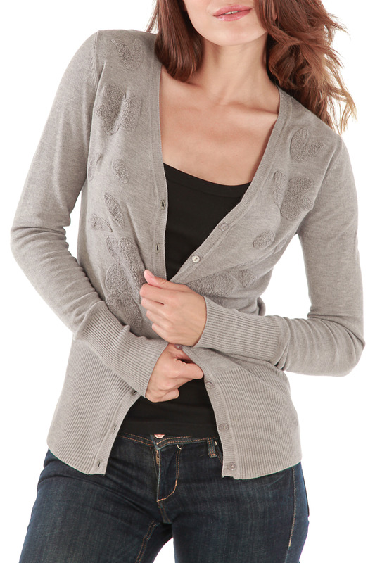 Кардиган CASHMERE 4 EVER W6009_GRIS