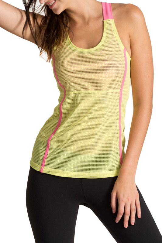 Топ PURE APPAREL P220031_LIME_BUBBLE_GUM_PINK