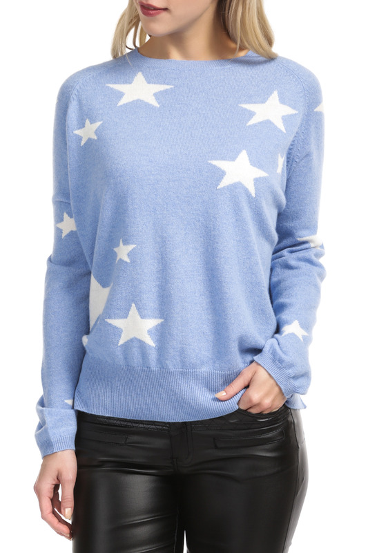 Пуловер Scott & Scott London Cashmere 1215_419_LITTLE_BOY_BLUE_WHITE_STARS