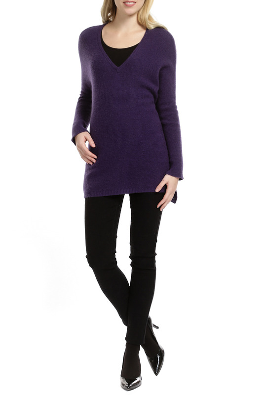 Пуловер Scott & Scott London Cashmere 1415_1114_PLUM_622