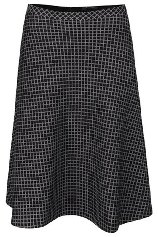 Юбка FEVER LONDON LRSK16W_LORI_SKIRT_BLACK_WHITE