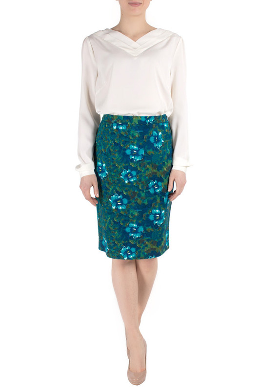 Юбка FEVER LONDON MAPSK_MABEL_PENCIL_SKIRT_DARK_GREEN_PETROL_KI