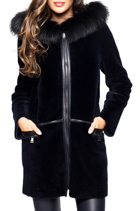 fur coat John & Yoko Пальто с капюшоном half length fur coat manakas half length fur coat