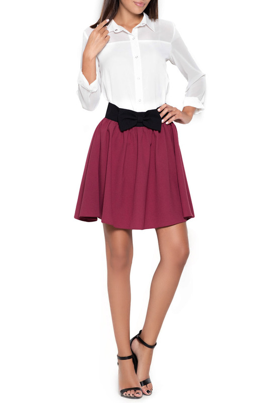 SKIRT KATRUS SKIRT tie waist plaid pencil skirt