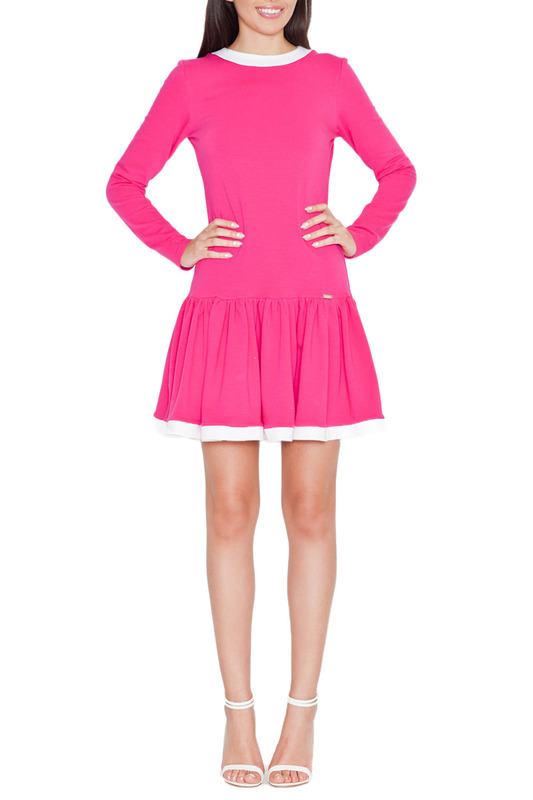 DRESS KATRUS KATRUS K266_FUCHSIA