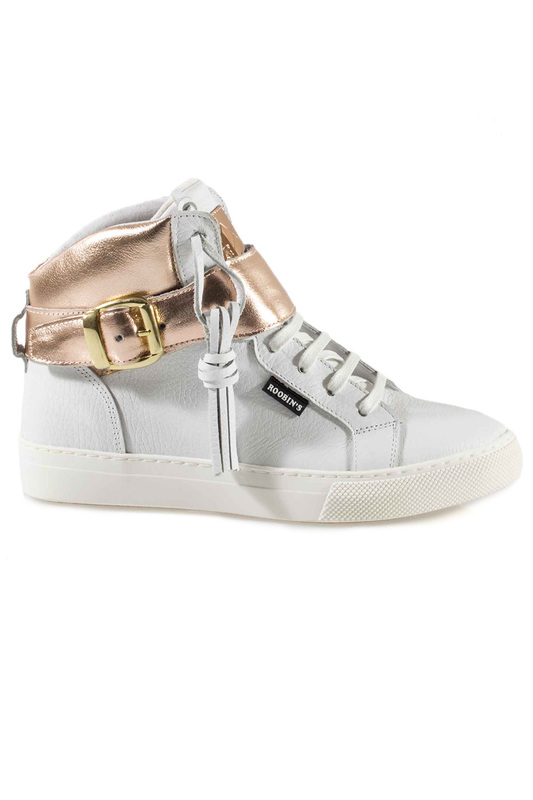 Фото 5 - SNEAKERS Roobins цвет white and golden