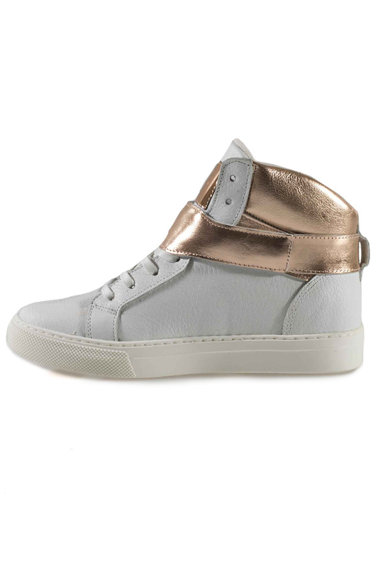 Фото 6 - SNEAKERS Roobins цвет white and golden