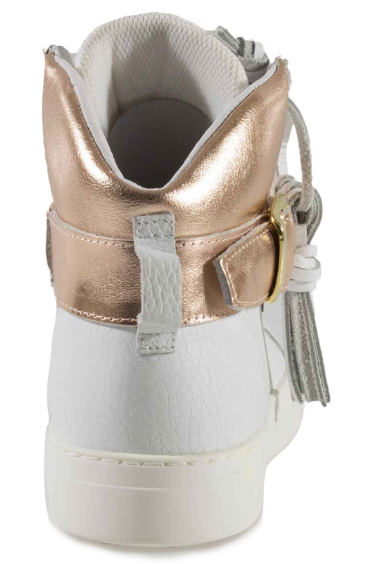 Фото 7 - SNEAKERS Roobins цвет white and golden