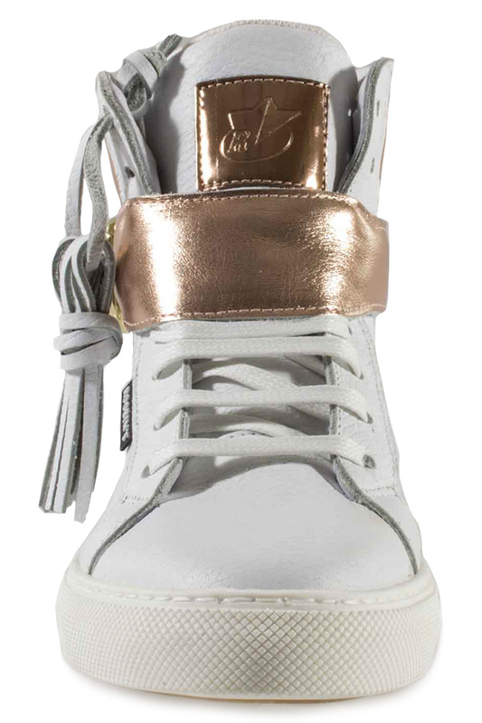 Фото 8 - SNEAKERS Roobins цвет white and golden