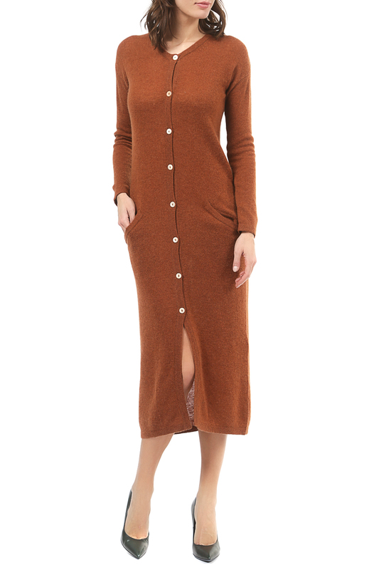 Кардиган Scott & Scott London Cashmere 2915_1124_BEECH_BROWN_10165