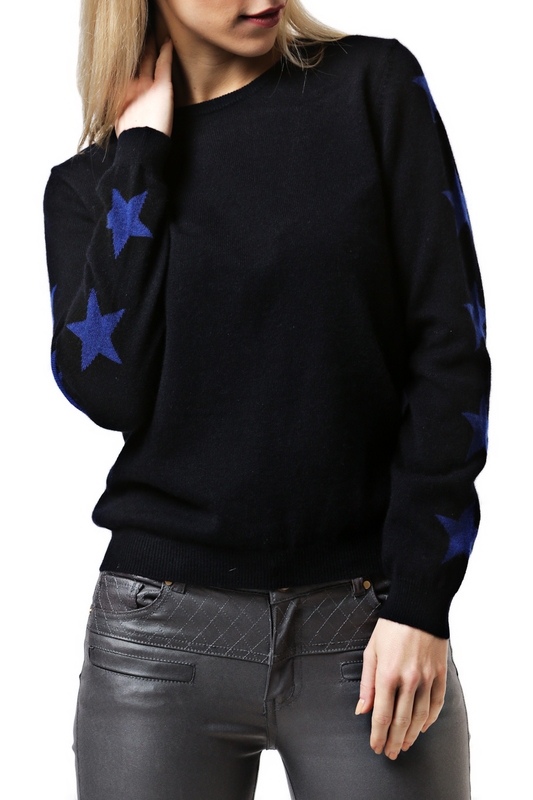 Пуловер Scott & Scott London Cashmere 1215_497_NAVY_ROYAL_BLUE_STARS