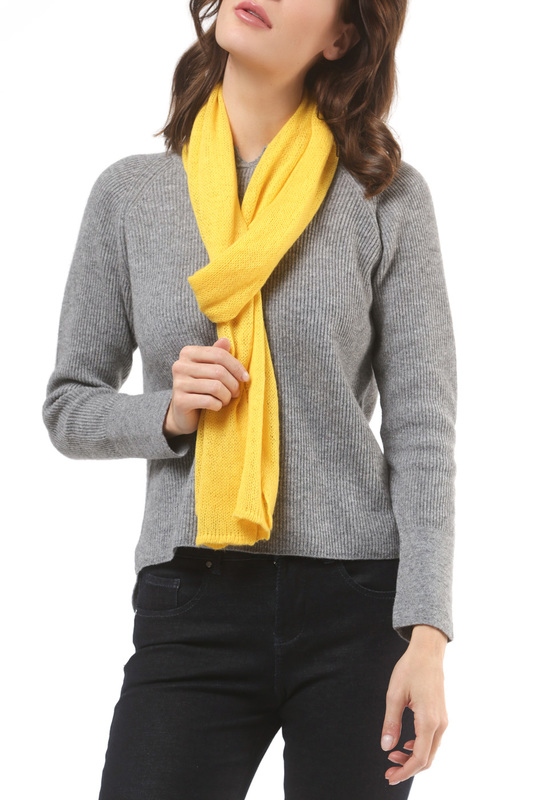 Шарф Scott & Scott London Cashmere 1715_802_SUNSHINE_YELLOW_518