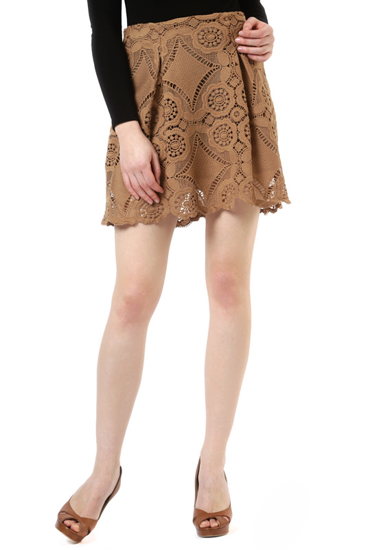 SKIRT LANACAPRINA SKIRT print high waist skirt