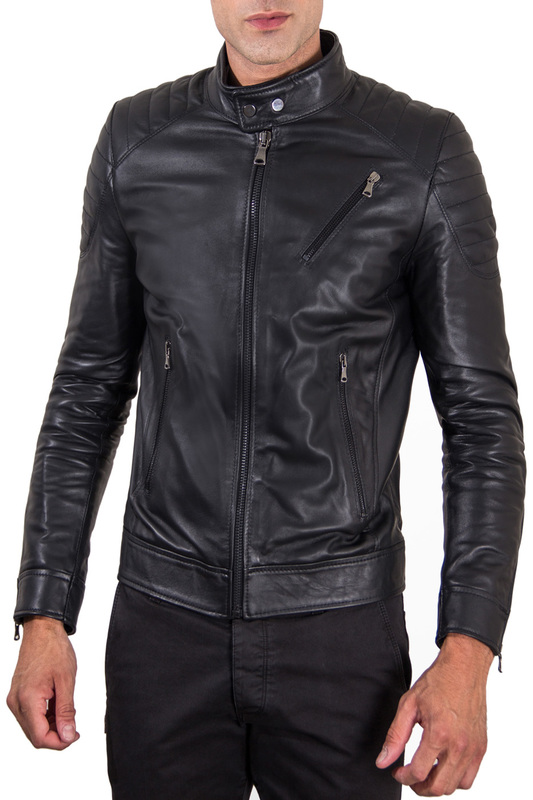 Купить Leather jacket AD MILANO, Black