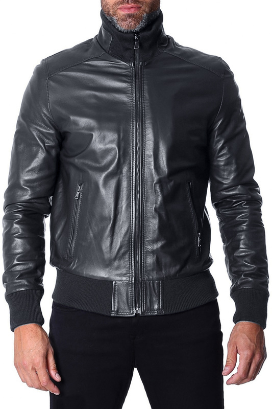 Leather jacket AD MILANO