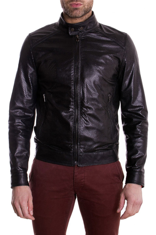 Leather jacket AD MILANO Leather jacket ваза 25 см crystalite bohemia ваза 25 см