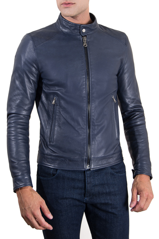 Leather jacket AD MILANO Куртки косухи свитшот armani jeans