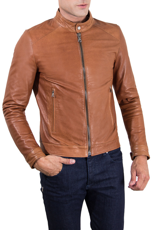 Leather jacket AD MILANO Куртки косухи adanex ad 12998